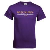 Purple T Shirt-Delta Tau Delta Motto