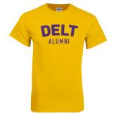 Gold T Shirt-Delt Alumni