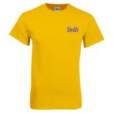 Gold T Shirt-Delts Script