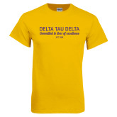 Gold T Shirt-Delta Tau Delta Motto