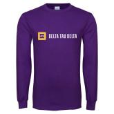 Purple Long Sleeve T Shirt-Horizontal Signature