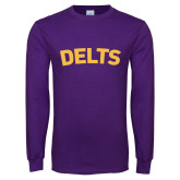 Purple Long Sleeve T Shirt-Delts