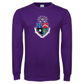 Purple Long Sleeve T Shirt-Crest
