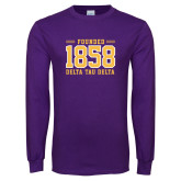 Purple Long Sleeve T Shirt-Founded 1858