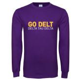 Purple Long Sleeve T Shirt-Go Delt