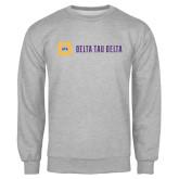 Grey Fleece Crew-Horizontal Signature
