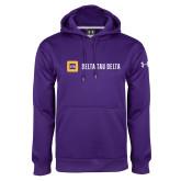 Under Armour Purple Performance Sweats Team Hoodie-Horizontal Signature