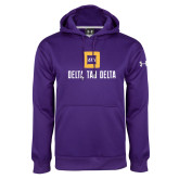 Under Armour Purple Performance Sweats Team Hoodie-Stacked Signature