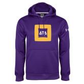 Under Armour Purple Performance Sweats Team Hoodie-Badge