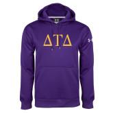 Under Armour Purple Performance Sweats Team Hoodie-Greek Letters