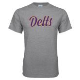 Grey T Shirt-Delts Script