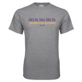 Grey T Shirt-Delta Tau Delta Motto