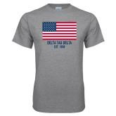 Grey T Shirt-American Flag