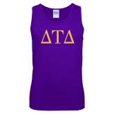 Purple Tank Top-Greek Letters