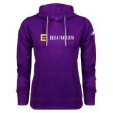 Adidas Climawarm Purple Team Issue Hoodie-Horizontal Signature