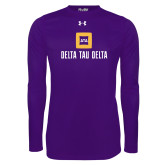 Under Armour Purple Long Sleeve Tech Tee-Stacked Signature