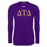 Under Armour Purple Long Sleeve Tech Tee-Greek Letters