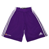 Adidas Climalite Purple Practice Short-Horizontal Signature