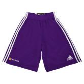Adidas Climalite Purple Practice Short-Horizontal Signature