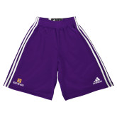 Adidas Climalite Purple Practice Short-Stacked Signature