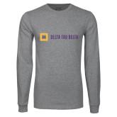 Grey Long Sleeve T Shirt-Horizontal Signature