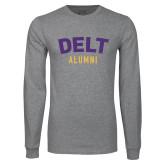 Grey Long Sleeve T Shirt-Delt Alumni