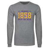 Grey Long Sleeve T Shirt-Founded 1858
