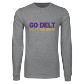 Grey Long Sleeve T Shirt-Go Delt