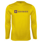 Performance Gold Longsleeve Shirt-Horizontal Signature