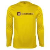 Syntrel Performance Gold Longsleeve Shirt-Horizontal Signature