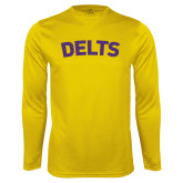 Performance Gold Longsleeve Shirt-Delts