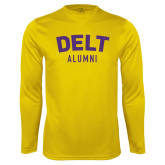 Performance Gold Longsleeve Shirt-Delt Alumni