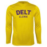 Syntrel Performance Gold Longsleeve Shirt-Delt Alumni