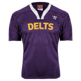 Replica Purple Adult Lacrosse Jersey-Arched Delts