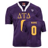 Replica Purple Adult Lacrosse Jersey-Personalized