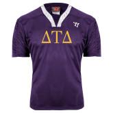 Replica Purple Adult Lacrosse Jersey-Greek Letters
