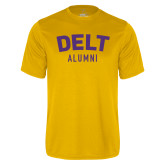 Performance Gold Tee-Delt Alumni