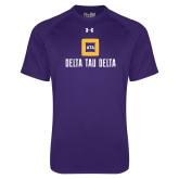 Under Armour Purple Tech Tee-Stacked Signature