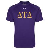 Under Armour Purple Tech Tee-Greek Letters