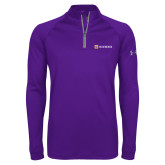 Under Armour Purple Tech 1/4 Zip Performance Shirt-Horizontal Signature