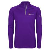 Under Armour Purple Tech 1/4 Zip Performance Shirt-Horizontal Signature