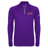 Under Armour Purple Tech 1/4 Zip Performance Shirt-Greek Letters