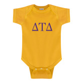 Gold Infant Onesie-Greek Letters
