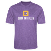 Performance Purple Heather Contender Tee-Stacked Signature