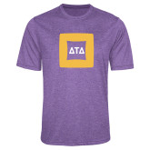 Performance Purple Heather Contender Tee-Badge