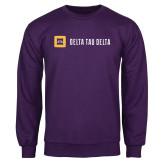 Purple Fleece Crew-Horizontal Signature