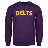 Purple Fleece Crew-Delts