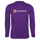 Performance Purple Longsleeve Shirt-Horizontal Signature