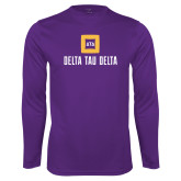 Performance Purple Longsleeve Shirt-Stacked Signature
