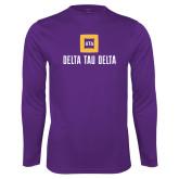 Syntrel Performance Purple Longsleeve Shirt-Stacked Signature